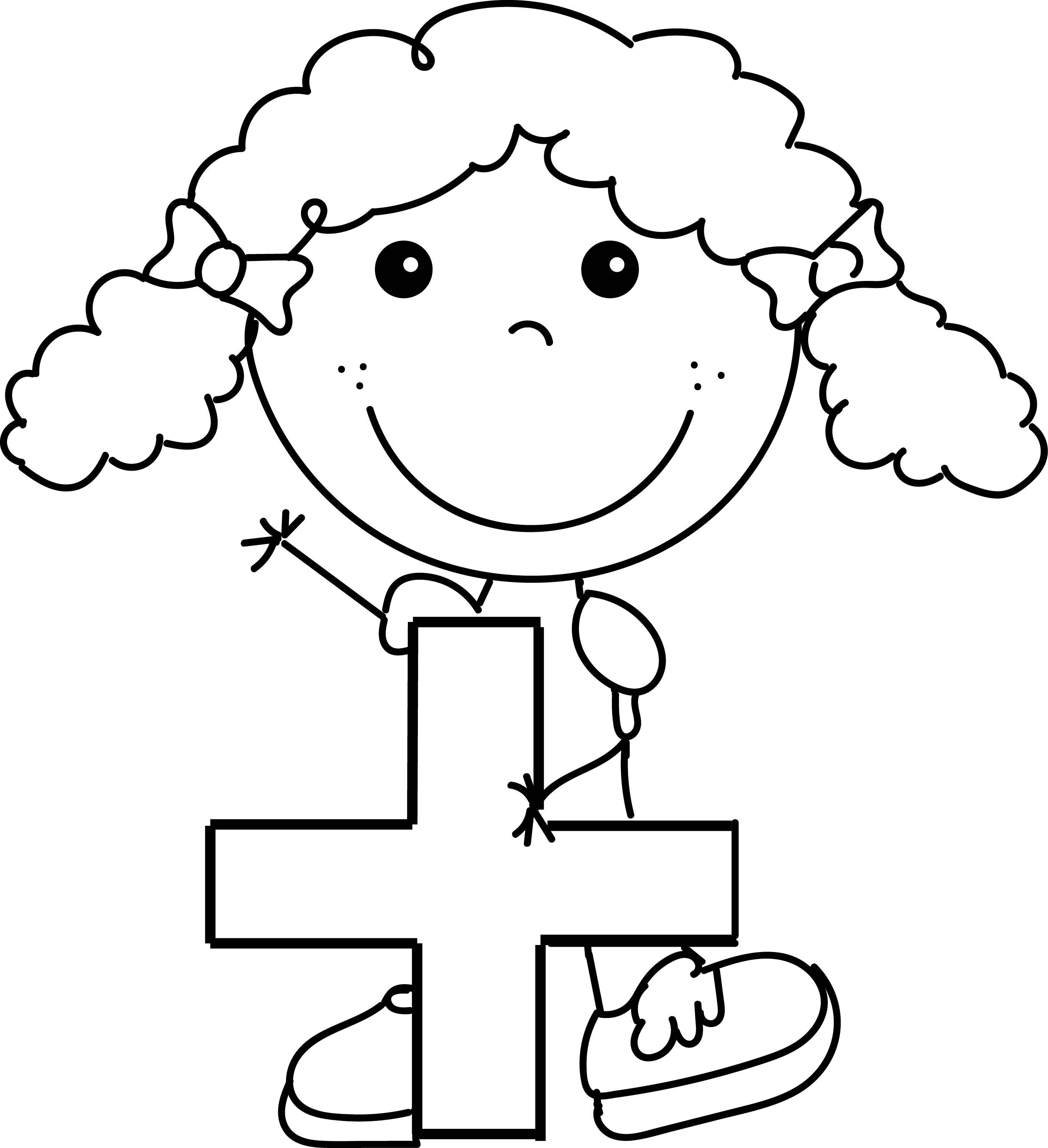 Awesome Addition Funny Girl Coloring Page
