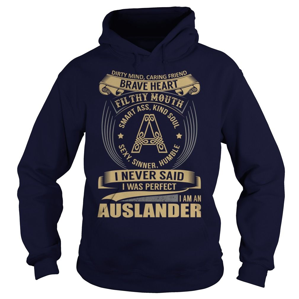 (New Tshirt Design) AUSLANDER Last Name Surname Tshirt Discount Codes Hoodies Tees Shirts