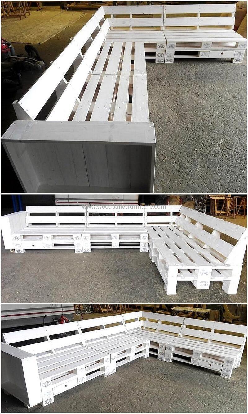 Que Faire Avec Des Palettes De Recuperation pallet wood couch plan | meubles de patio palette, meuble