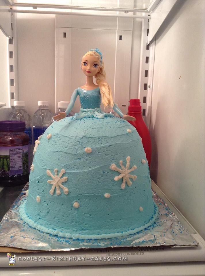 Beautiful Elsa Doll Cake Elsa doll cake Birthday cakes and