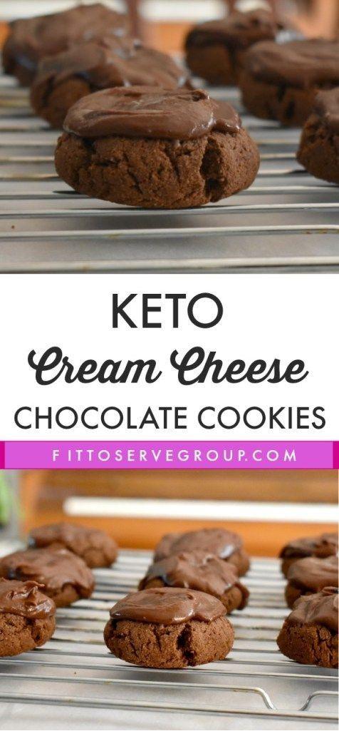 Keto Cream Cheese Chocolate Cookies  #ketodietforbeginners