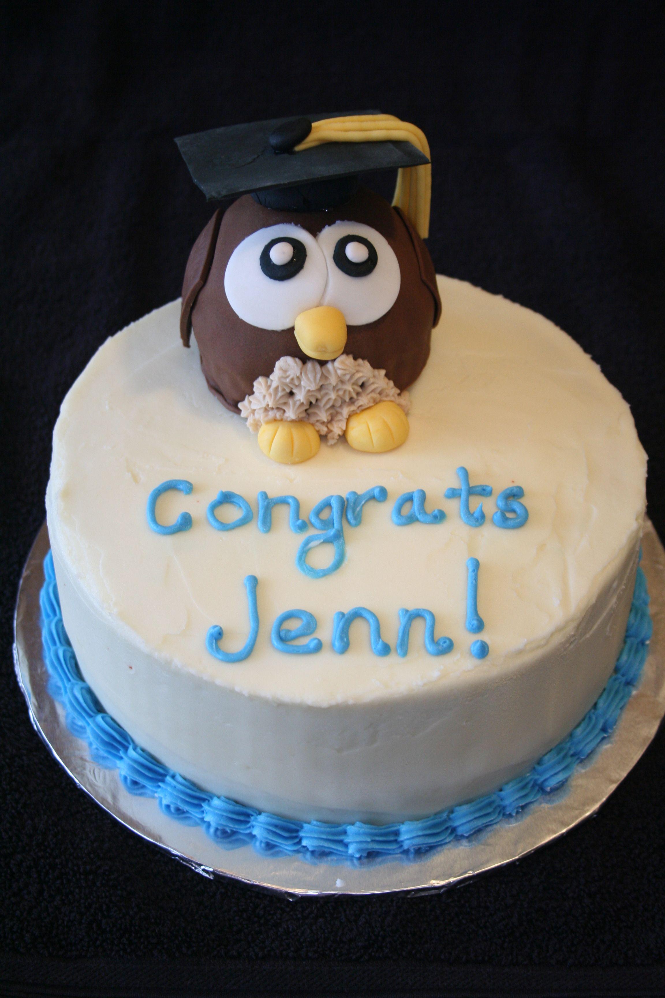 Owl Graduation Cake Cake, Cake decorating, Sweets