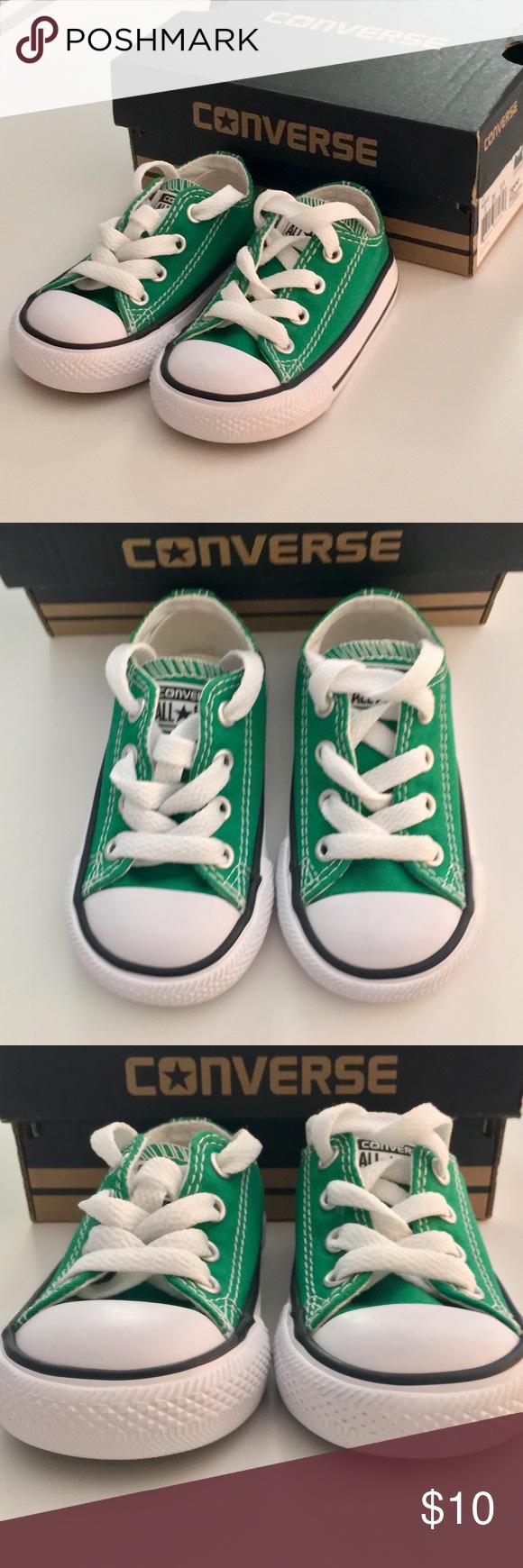 76fcbaf56ed NWOT Converse Infant Toddler Size 4 Amazon Green NWOT Converse in Amazon  Green. US