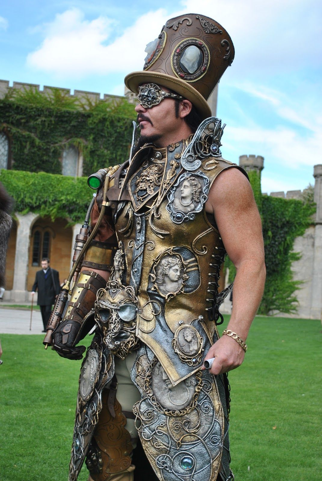 steampunk costume incredible steampunk costume as seen. Black Bedroom Furniture Sets. Home Design Ideas