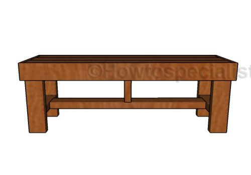 2×4 Easy to Build Bench Plans