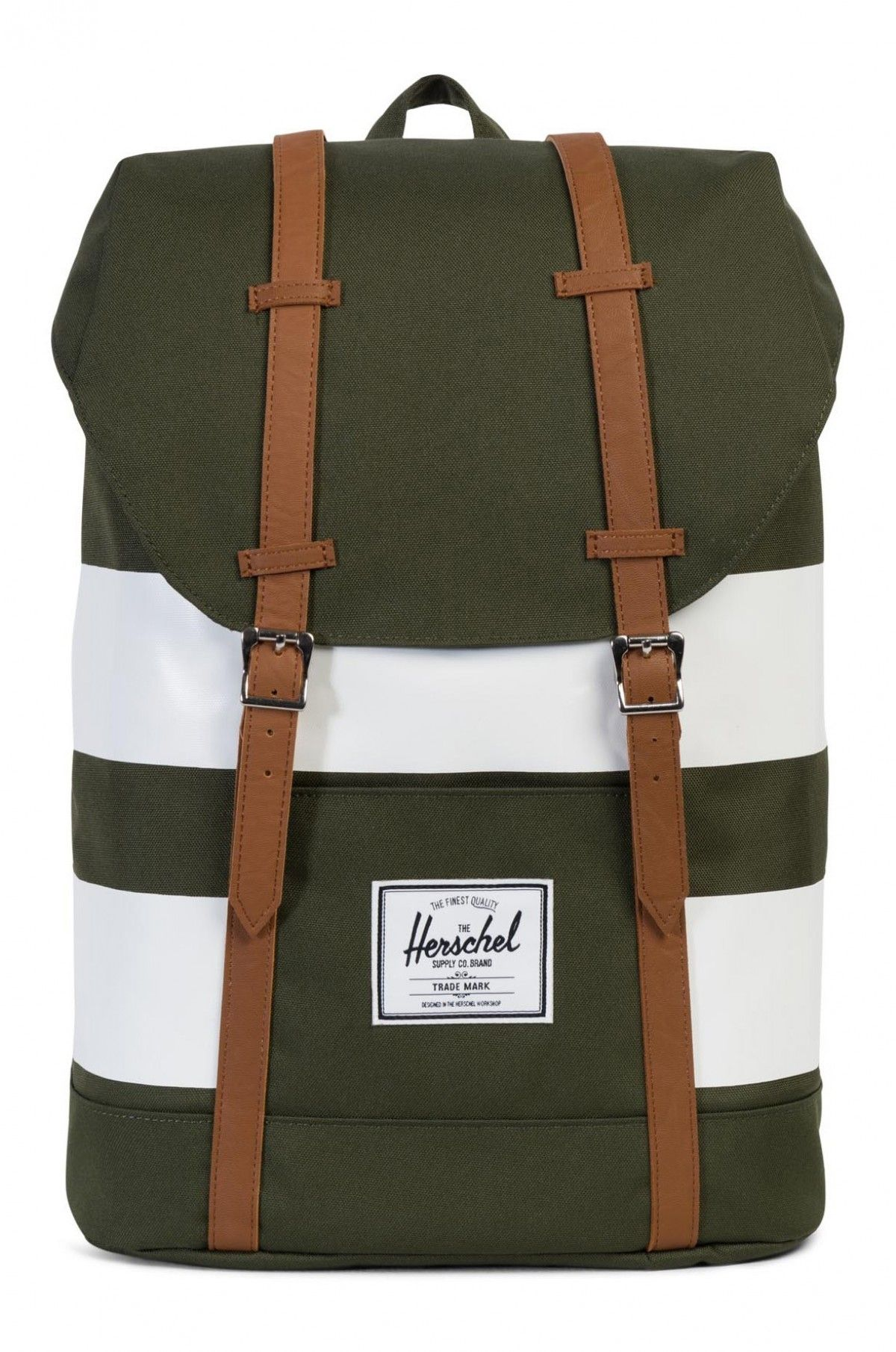 1c6fa2513d5 Herschel Retreat Backpack 600D Forest Night Rugby Stripe   Herschel    Pinterest   Herschel, Herschel supply and Herschel supply co