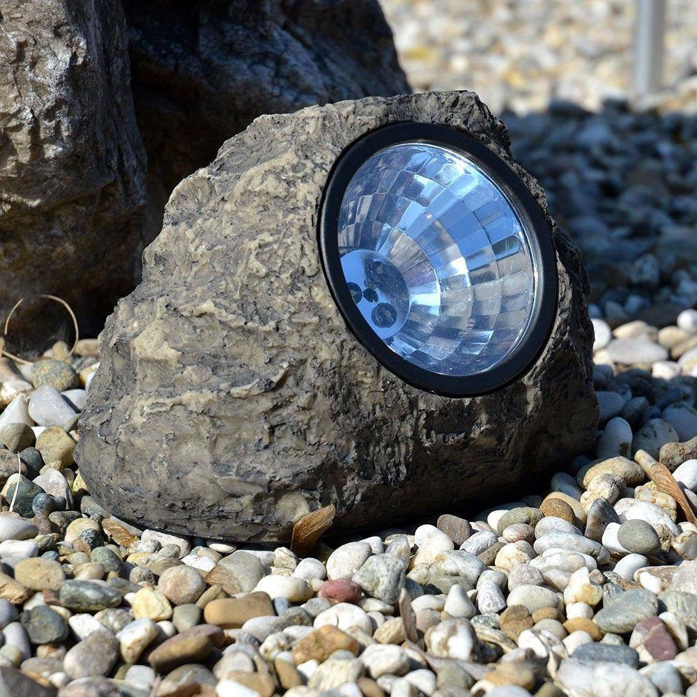 Licht Skapetze skapetze xl stein solarleuchte mit 3 superhellen leds
