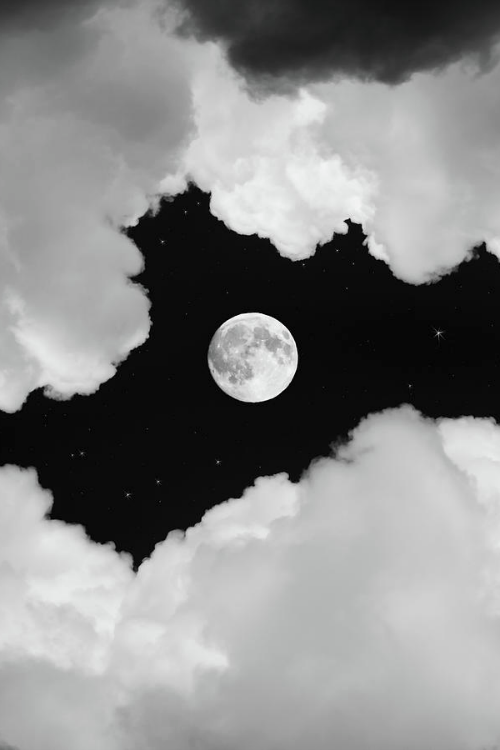Cloud Framed Moon Fond Ecran Halloween Ecran Noir Et Blanc Et Magnifique Lune