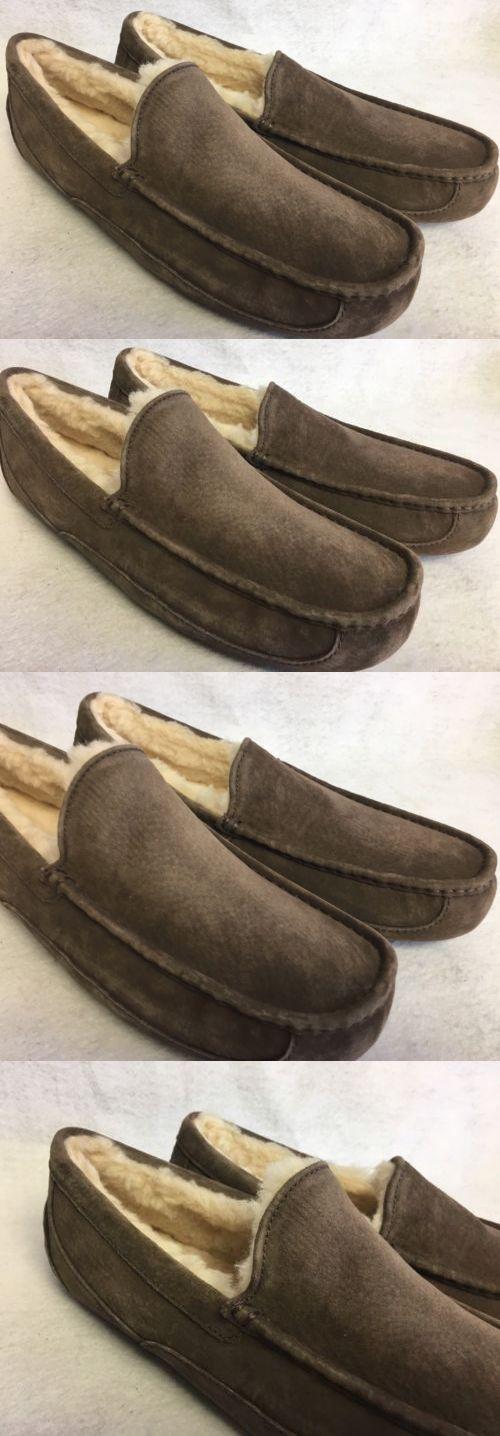 Slippers 11505: Ugg Australia Ascot Slipper Slip On Suede Espresso Brown Mens  Shoes 5775 -