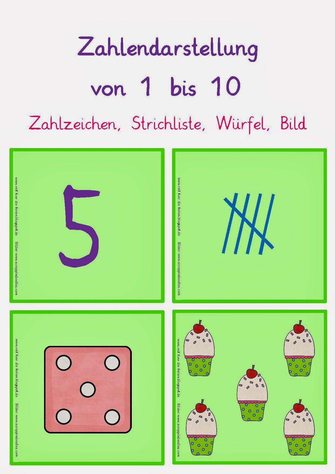 Zahldarstellung 1-10 | Matikka 0-2 | Pinterest | Math, Montessori ...