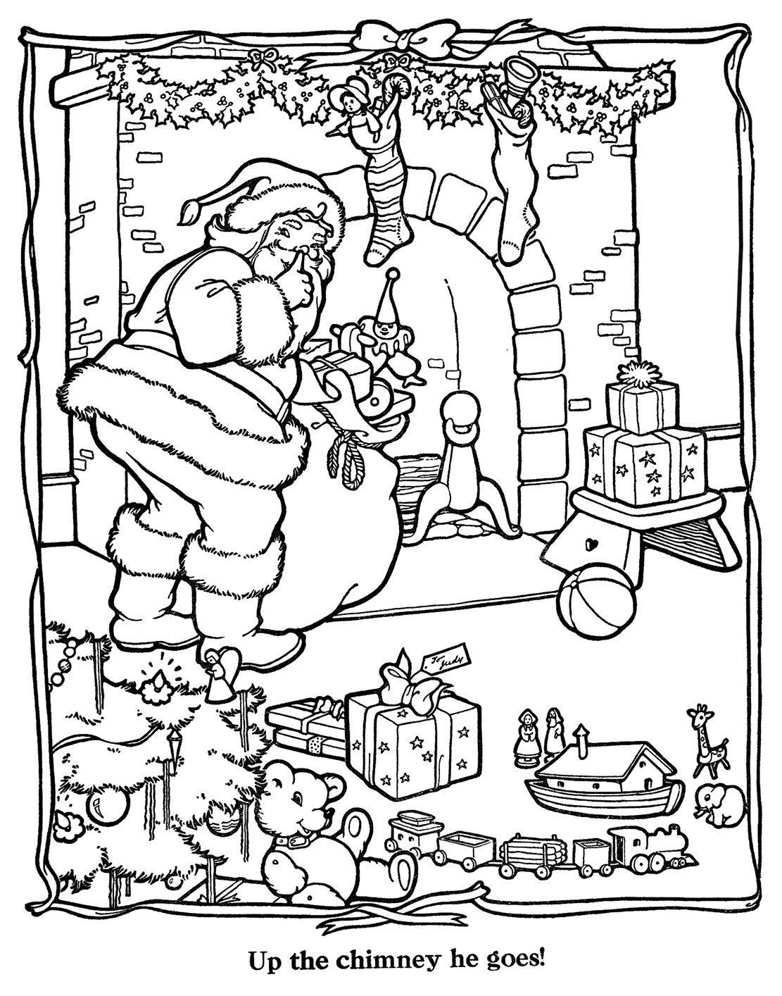 Kerst Kleurplaten Merry Christmas.Merry Christmas Paint Book 31 Kleurplaten Kleuren En Kerstman