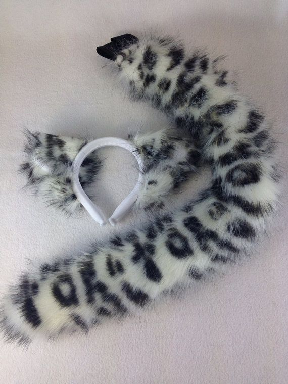 Leopard Ears And Tail Set Halloween