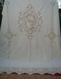 Risultati immagini per tende lino e uncinetto per cucina | κοφτο ...