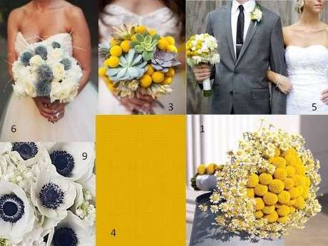 mustard yellow, grey, and touch of dark teal/navy wedding colors ...