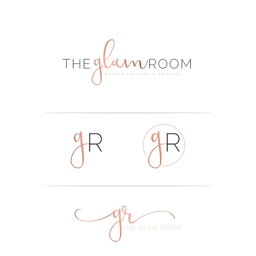 The Glam Room Timeless And One Of A Kind Beauty Logo My Target Audience Are Brides I Specialize In Makeup Artistry Beauty Logo Design Beauty Logo Glam Room