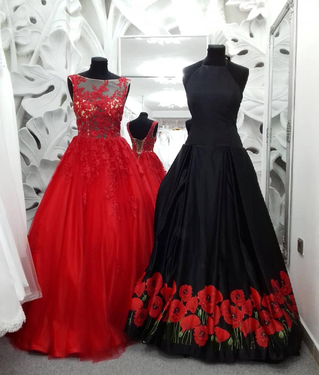 Red Tulle Long Prom Dress Princess Červené a černé plesové maturitní šaty.  Vlevo velikost 36 d6dd4f5969