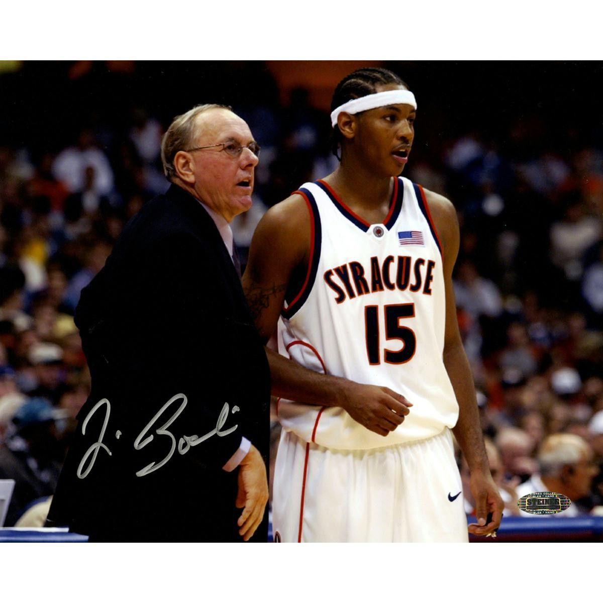 Jim Boeheim with Carmelo Anthony 8x10 Photo Jim boeheim