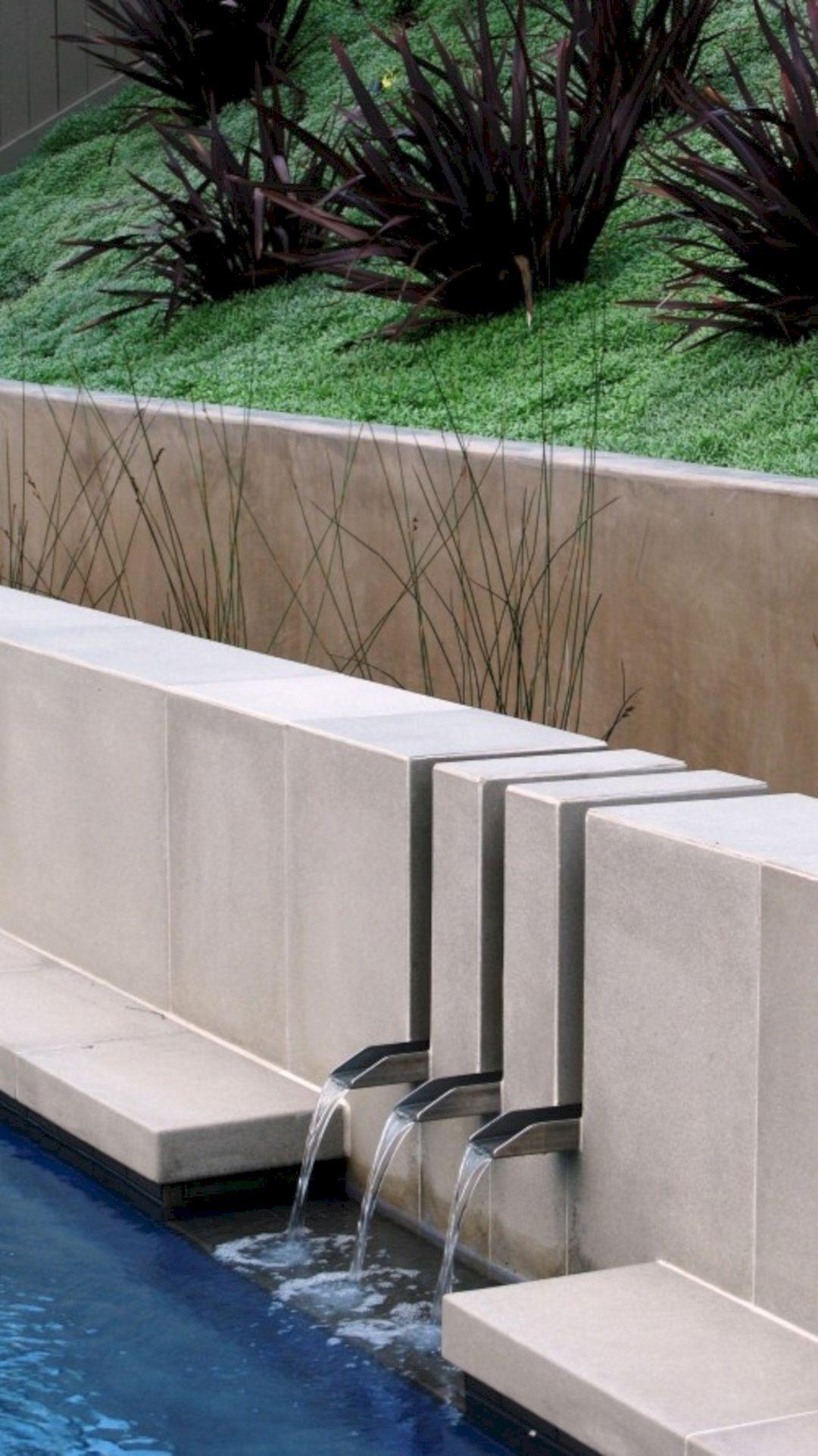 Inspiring 12 Wonderful Fountain Design For Your Home Garden Ideas Https Decoredo C Contemporary Landscape Design Water Features In The Garden Fountain Design
