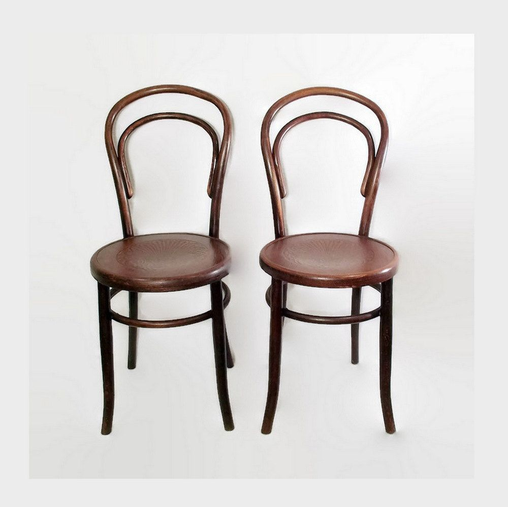 Antique Fischel Bentwood Chairs Thonet Cafe Bistro Chairs
