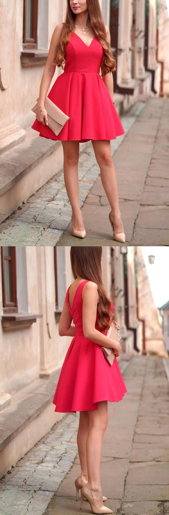 Red homecoming dresseshomecoming dresses short simple homecoming
