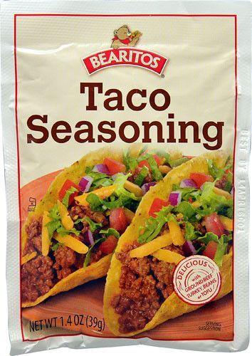 Bearitos Taco Seasoning 1.4 Oz Packet | Taco seasoning ...