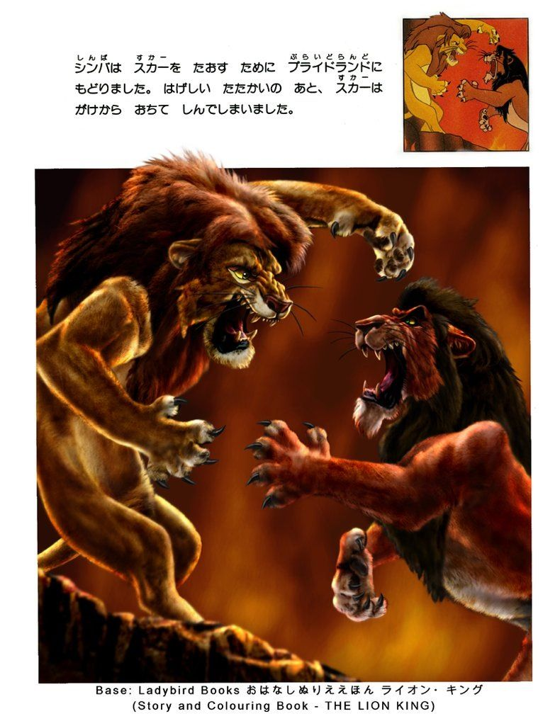 The Lion King Simba And Scar Fight Disney Lion King