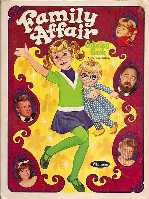 1968 Family Affair Coloring Book. I loved that show. Buffy looks about my age when I would have had this coloring book.