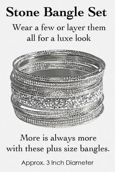 Plus Size Bangle Bracelets Wear All Or A Few Jewelry