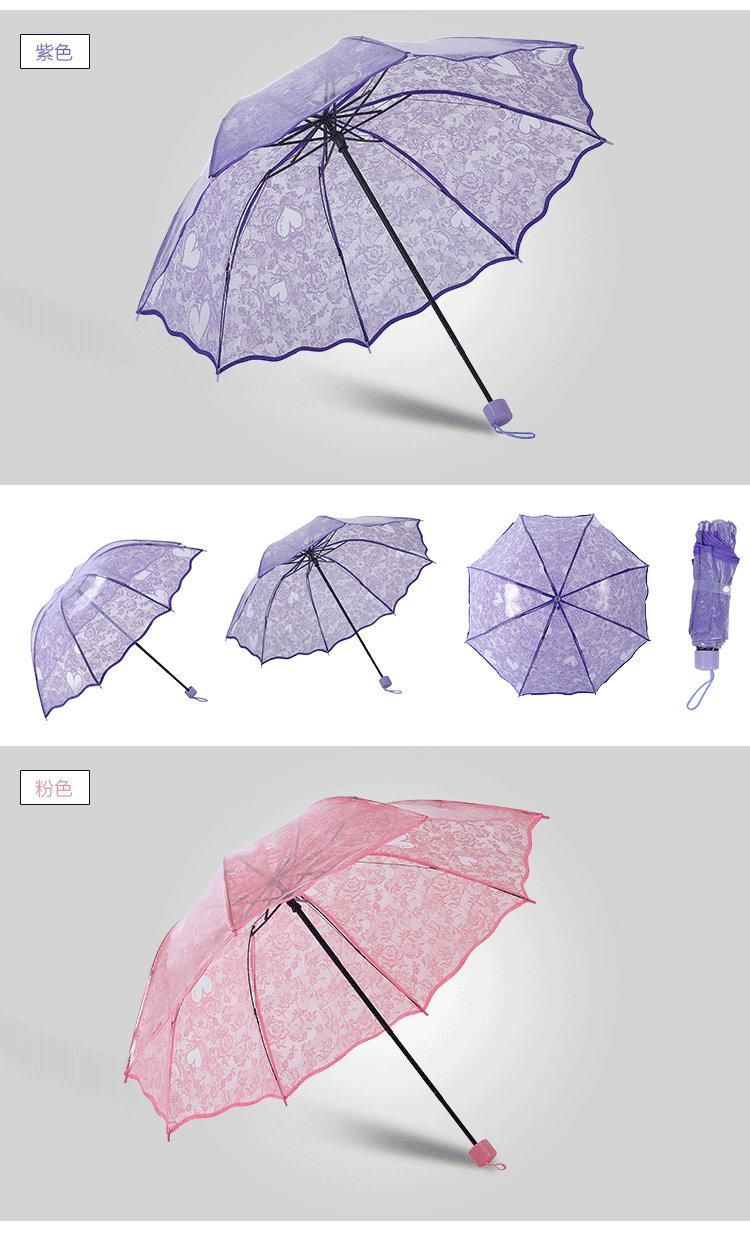 3bc62599c793b 2019 Plastic Transparent Princess Lace Compact Rain Women Windproof Sunny  And Rainy Umbrella From Onward_industrial, $7.84 | DHgate.Com