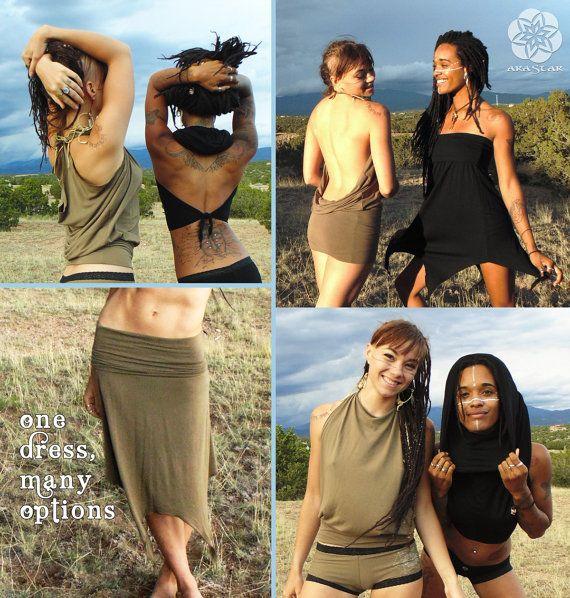 SALE Versa: Convertible Dress Skirt Shirt Tunic by AraStarApparel
