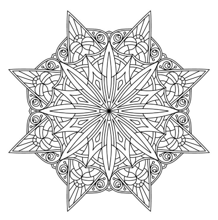 28052016 | Mandala coloring, Adult coloring mandalas ...