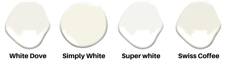 White Paint Color Guide 2020 | White Dove vs Swiss Coffee vs Alabaster