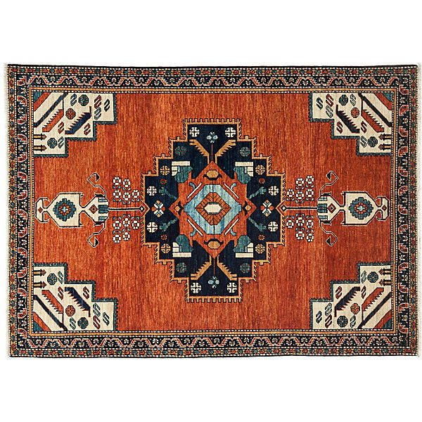 5 3 X7 3 Elijan Rug Red Area Rugs 2 175 Liked On Polyvore Featuring Home Rugs Red Traditional Area Red Wool Area Rug Wool Area Rugs Handmade Wool Rugs