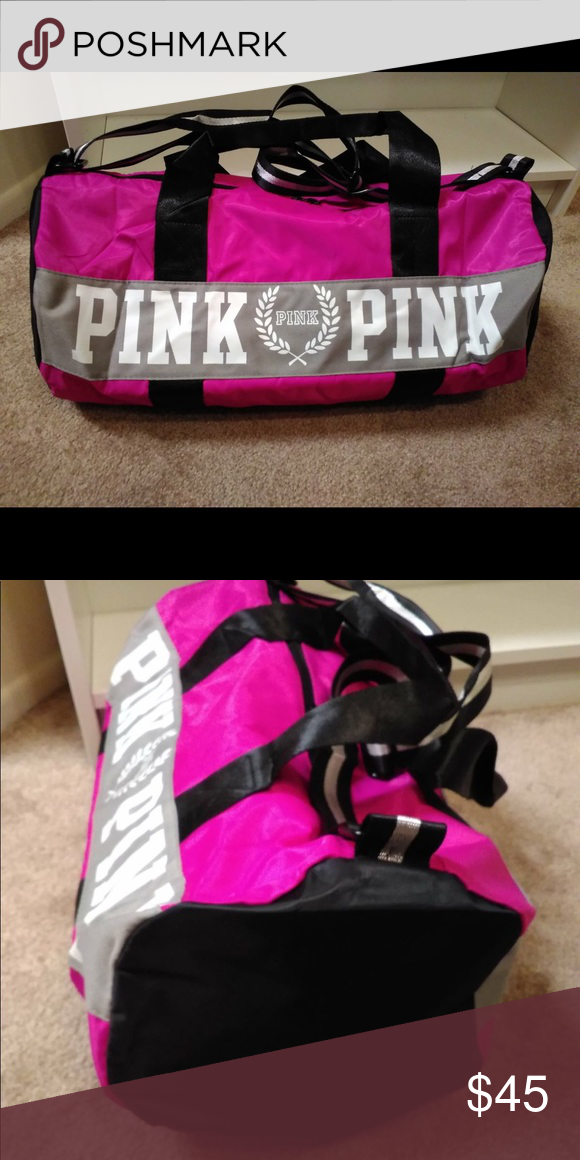 87b83c9c948b Victoria Secret PINK Dufflebag Gym bag BRAND NEW in original packaging PINK  Victoria Secret Duffle Travel Bag Dimension  21.5