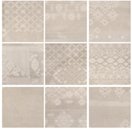 #Provenza #Gesso Dekor Patchwork Taupe Linen 20x20 Cm 023x1RB |  #Feinsteinzeug #Sandoptik