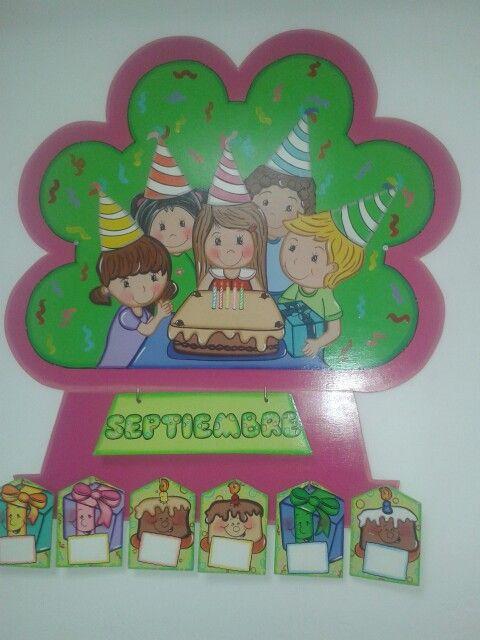 Cartel de cumplea os colegio pinterest cartel de - Mural para cumpleanos ...