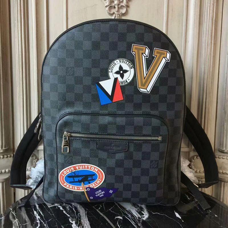 9caea1309f72 Louis Vuitton Josh Backpack N64424 Damier Graphite Canvas   Louisvuittonhandbags