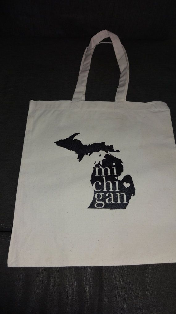 Hey, I found this really awesome Etsy listing at https://www.etsy.com/listing/279016432/michigan-tote-bag