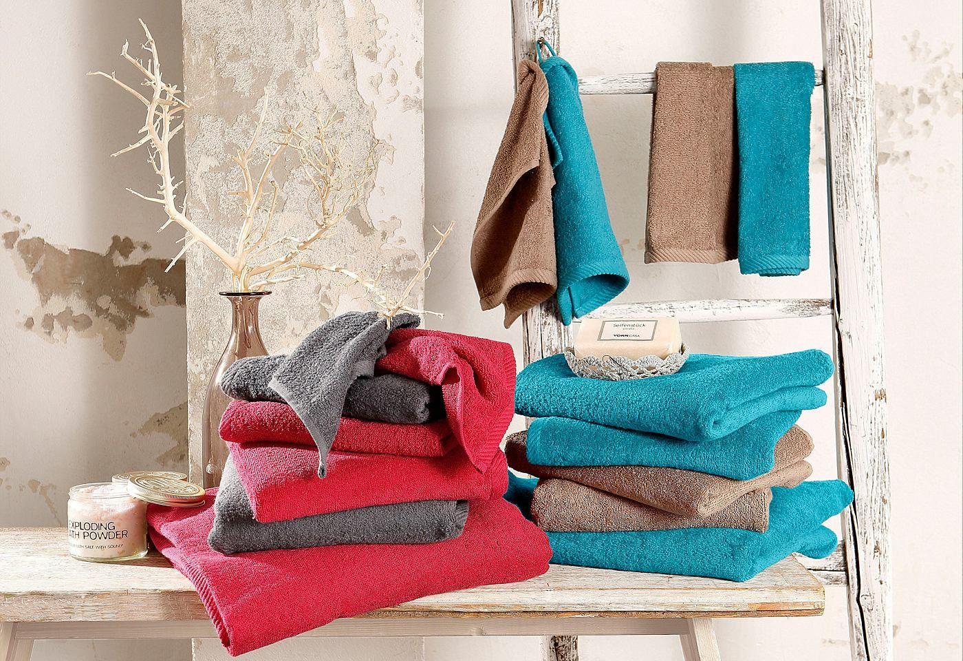 Handtuch Set Brillant Dyckhoff Set Mit Streifenbordure