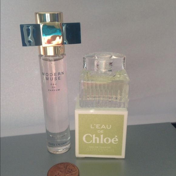 MINIATURE COLLECTION CHLOÈ&Estee Lauder MINIATURE COLLECTION CHLOÈ L'EAU Eau de Toulette 0.17 fl oz 5 ml & Estee Lauder Modern Muse Eau de Parfum 0.14 fl oz 4 ml new never used Chloe Other