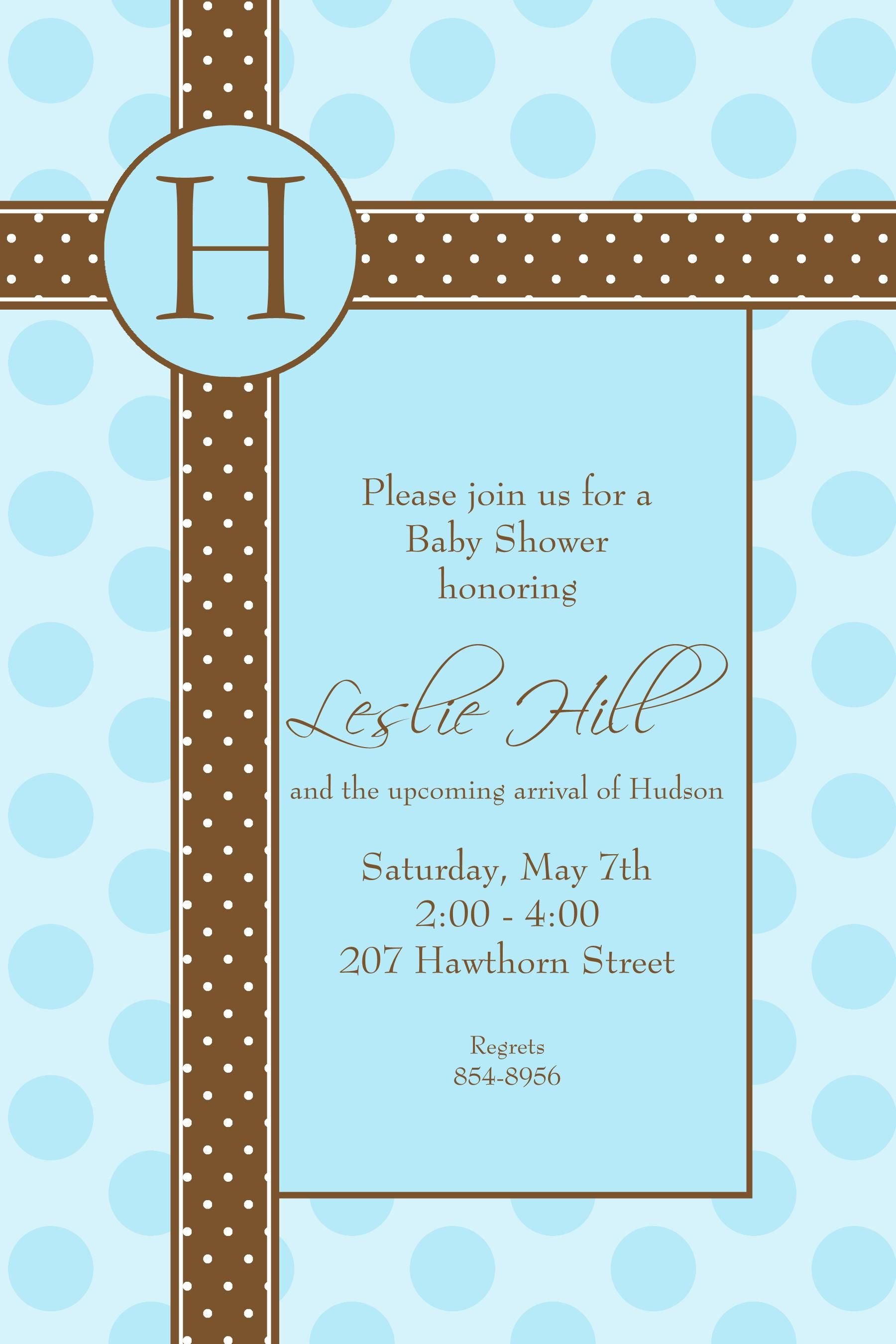baby boy | View Full Size | More pb blue brown dots baby boy shower ...