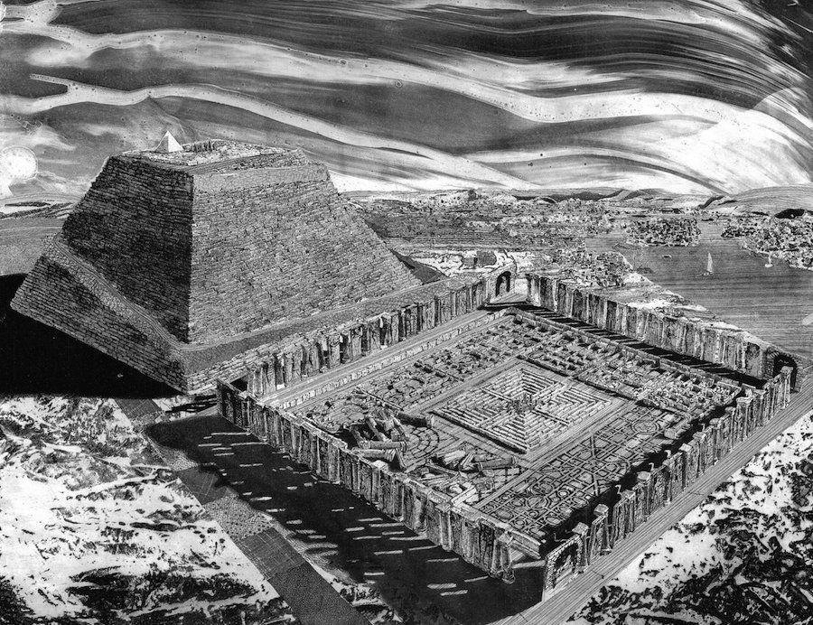 Картинки по запросу храм лабиринт аменемхета 3