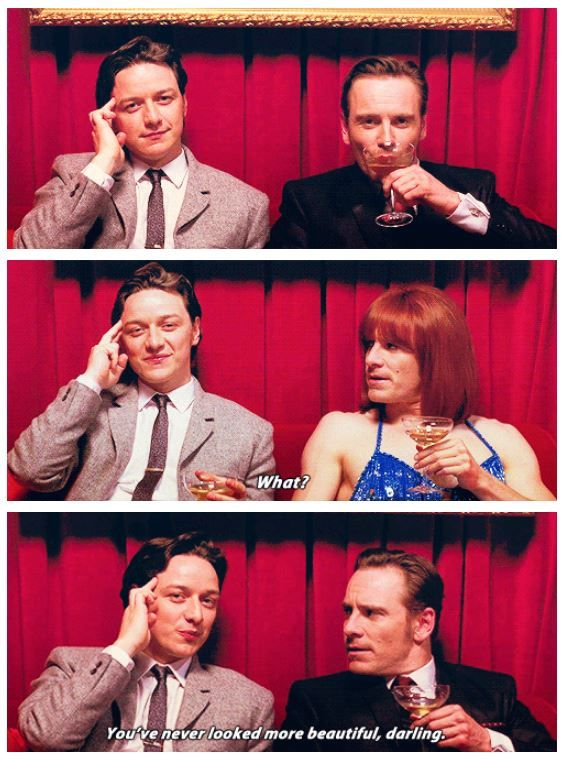 Charles To Erik You Ve Never Looked More Beautiful Darling X Men First Class With Images X Men Funny James Mcavoy X Men