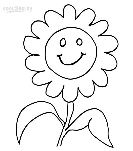 Smiley Face Coloring Pages Coloring Pages Flower Coloring
