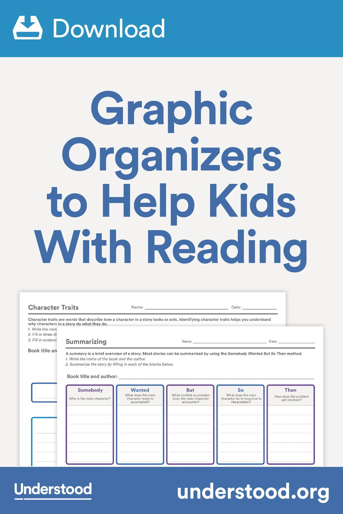 Download Graphic Organizers To Help Kids With Reading