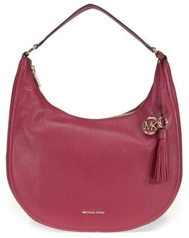 Top Handle Handbag, Lydia, mulberry pink, Leather, 2017, one size Michael Kors