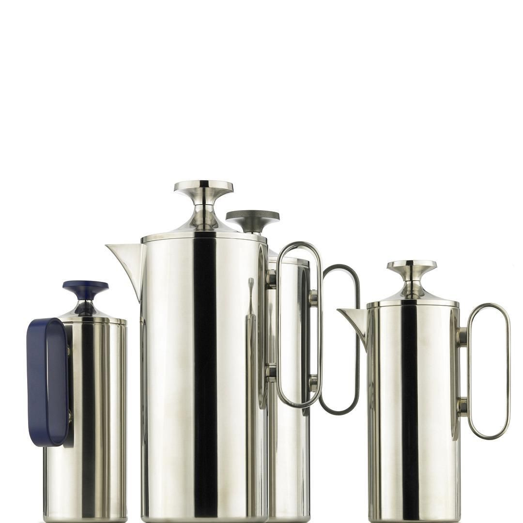 Towering Examples Corin Mellor S Superb Stainless Steel Cafetieres Shining New Additions To Our Long Legacy Of Metalwork Design Metal Working Stainless Steel