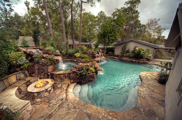 Effektvolle Poolgestaltung Im Garten Schwimmbader Hinterhof