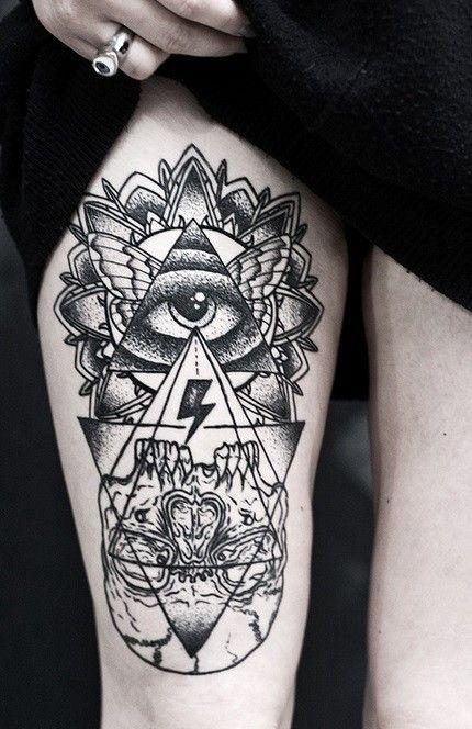 Tatouage oeil simple signification - Tete de mort signification ...