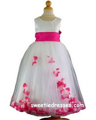 Super Cute Flowergirl Dress | Pink and Orange Wedding Ideas ...